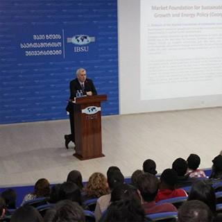 """საჯარო ლექცია თემაზე: """"მდგრადი ეკონომიკური ზრდის საფუძვლები და ენერგოპოლიტიკა საქართველოში"""""""