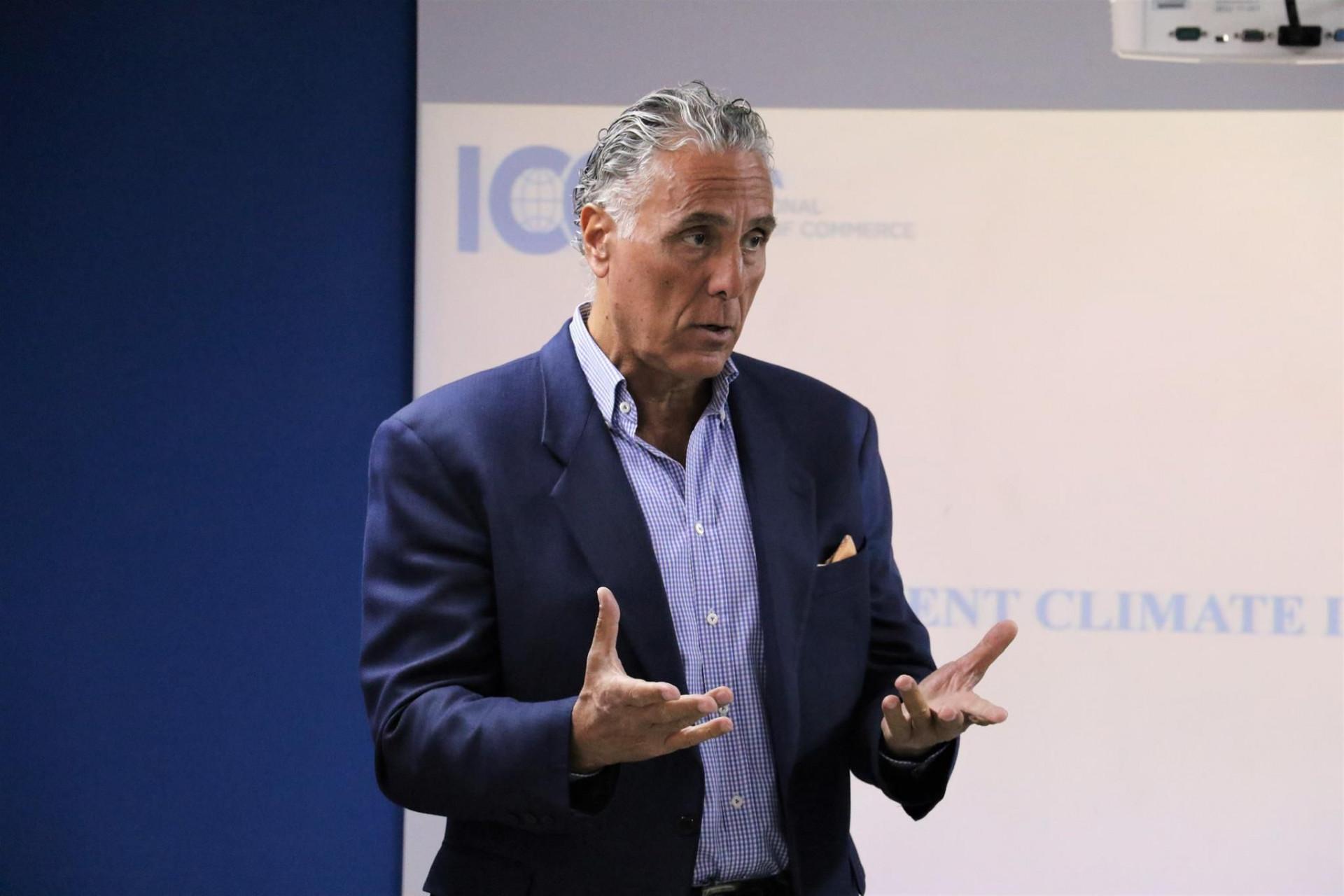 """ფადი ასლის საჯარო ლექცია """"Investment Climate in Georgia""""."""